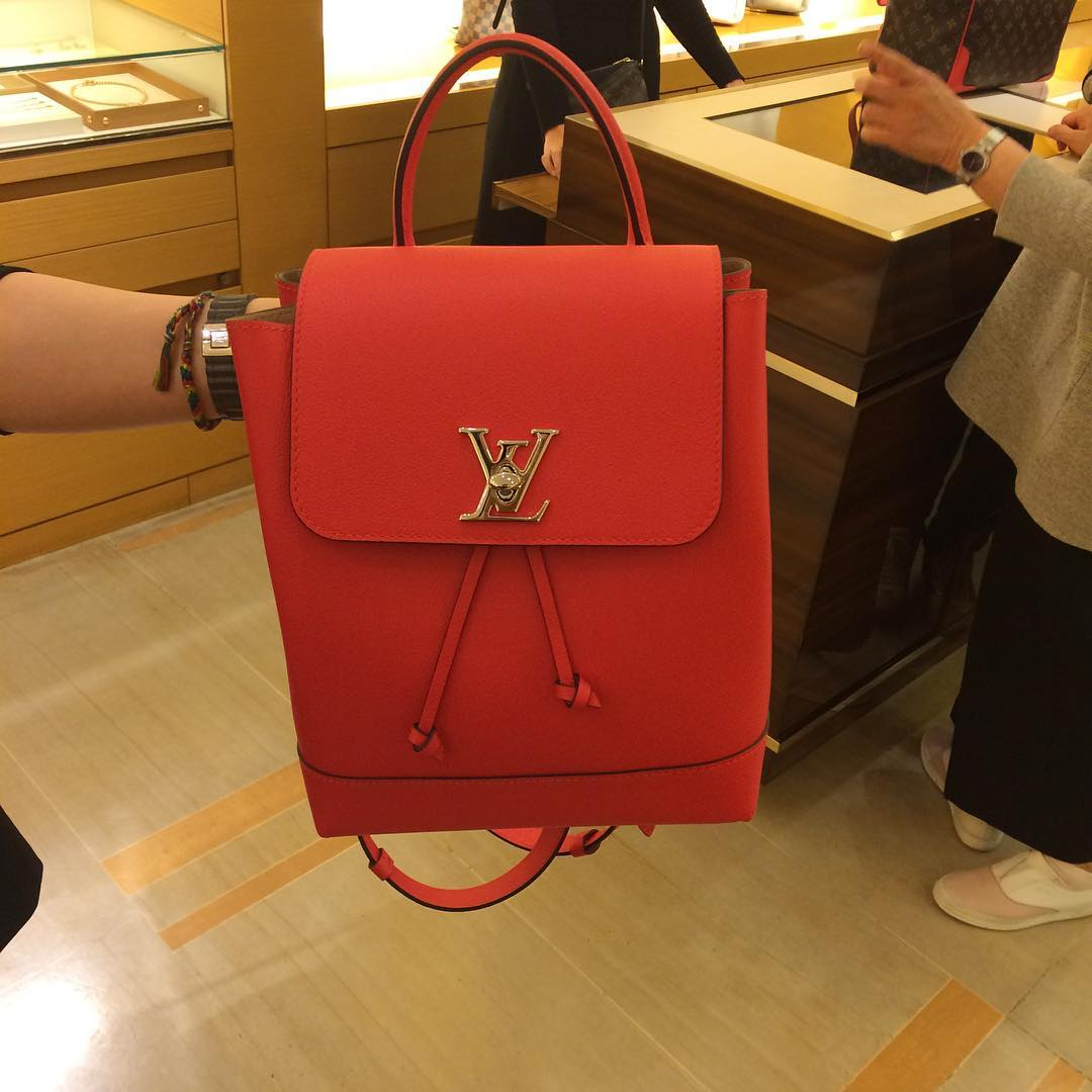 A Closer Look  Louis Vuitton Lockme Backpack Grade 1 Replica Handbag ... 0f7e0e72e20c0