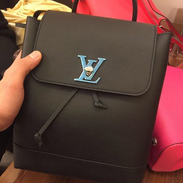 1ea435c99e8 A Closer Look  Louis Vuitton Lockme Backpack Grade 1 Replica Handbag ...