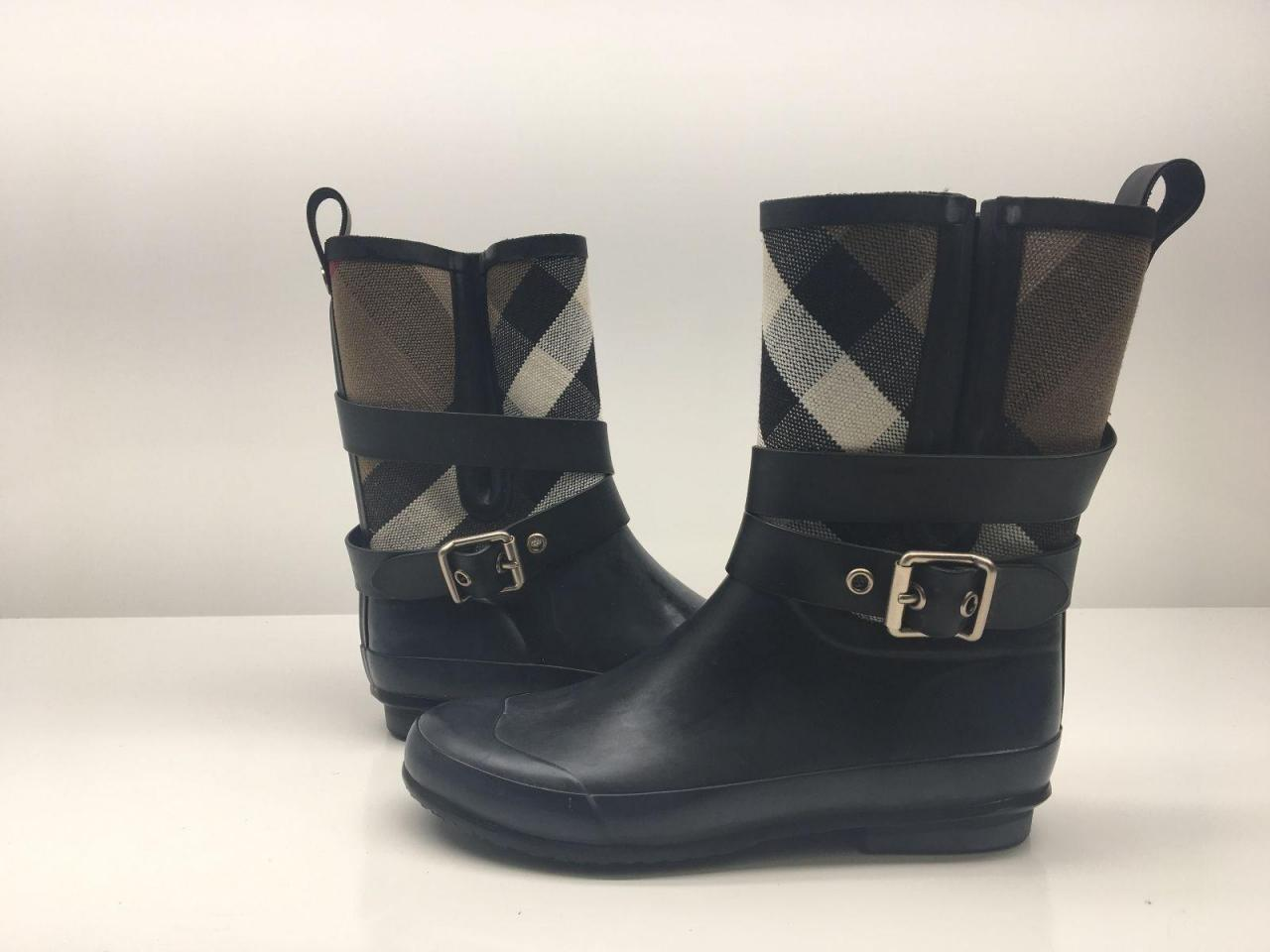 55e0443eccd Burberry Black  holloway  Rain Boots Booties - Best Replica Shoes ...
