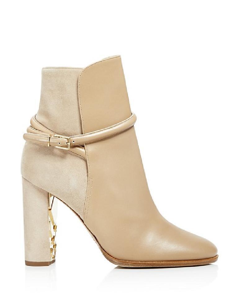 b2e83040b6e6 Burberry Nude Shola Mixed Media Boots Booties - Best Replica Shoes ...